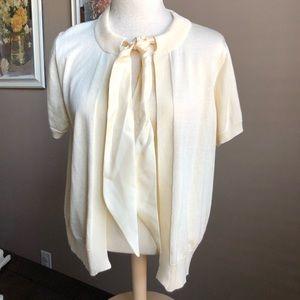 LizClaiborne Short Sleeve Sweater
